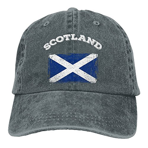 - Keerqingqu Men&Women Adjustable Cotton Denim Baseball Cap Scotland Flag Plain Cap