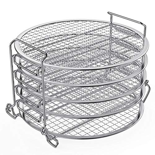 Best Deals! Dehydrator Rack,6.5 & 8 qt Stainless Steel Dehydrator Stand Accessory Compatible with ...