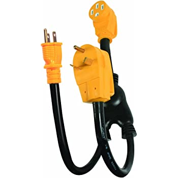 RV-Cord 30A Plug to (2)15A Cord Adapter Camper Y
