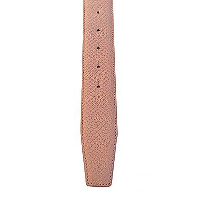 VMP Damen Gürtel Serpico AME928 Leder mit Reptil-Prägung vintage rosé taupe