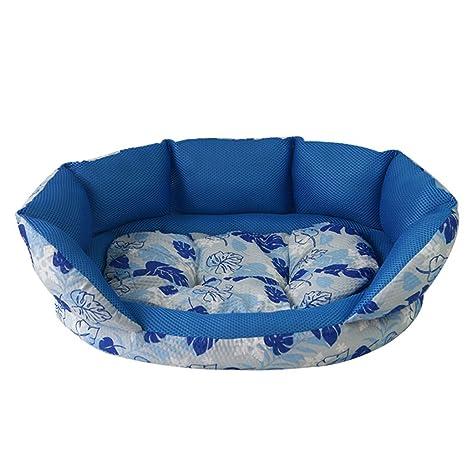 Moolo Cama para Mascotas sándwich Malla de Tela Perrera Suave y cómodo Resistente al Agua Antideslizante