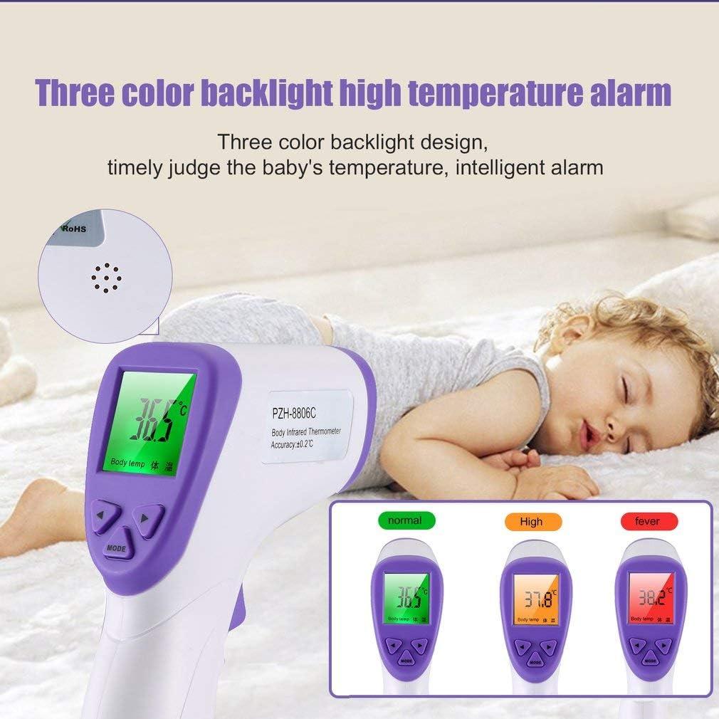 Thermom/ètre Num/érique Thermom/ètre de Oreille Infrarouge Thermometre Frontal avec Affichage /à LED Thermom/ètres pour B/éb/é et Adultes
