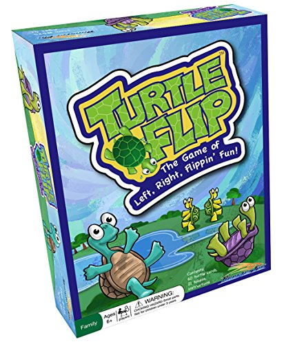 Turtle Flip Family Board Game – Cards Move Left and Right During The Game to Improve Memory...