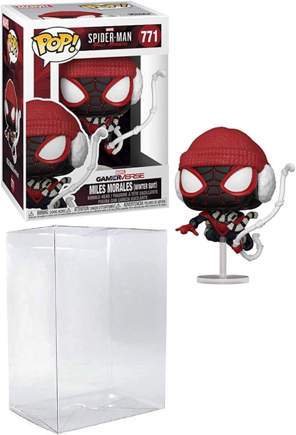 Spider-Man Miles Morales Winter Suit Pop # 771 Marvel Gamerverse Vinyl Figure (Bundled with EcoTek Protector to Protect Display Box)
