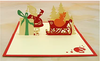 Amazon lemongo 3d christmas cards pop up greeting holiday lemongo 3d christmas cards pop up greeting holiday cards gifts designs with envelopes included style1 m4hsunfo