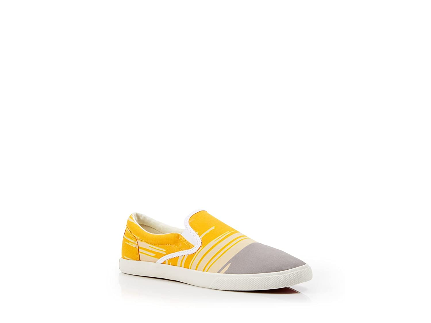 Bucketfeet WNs Modern Zebra Canvas Slip-On 9