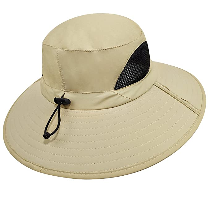 1c6c6c6a0db Amazon.com   LETHMIK Outdoor Waterproof Boonie Hat Wide Brim Breathable  Hunting Fishing Safari Sun Hat   Sports   Outdoors