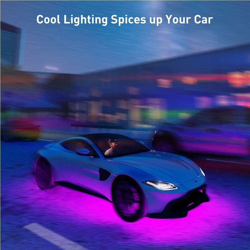 DC 12-24V Color Changing and Remote Control Car Underglow LED Lights Govee Exterior RGB Car Lights