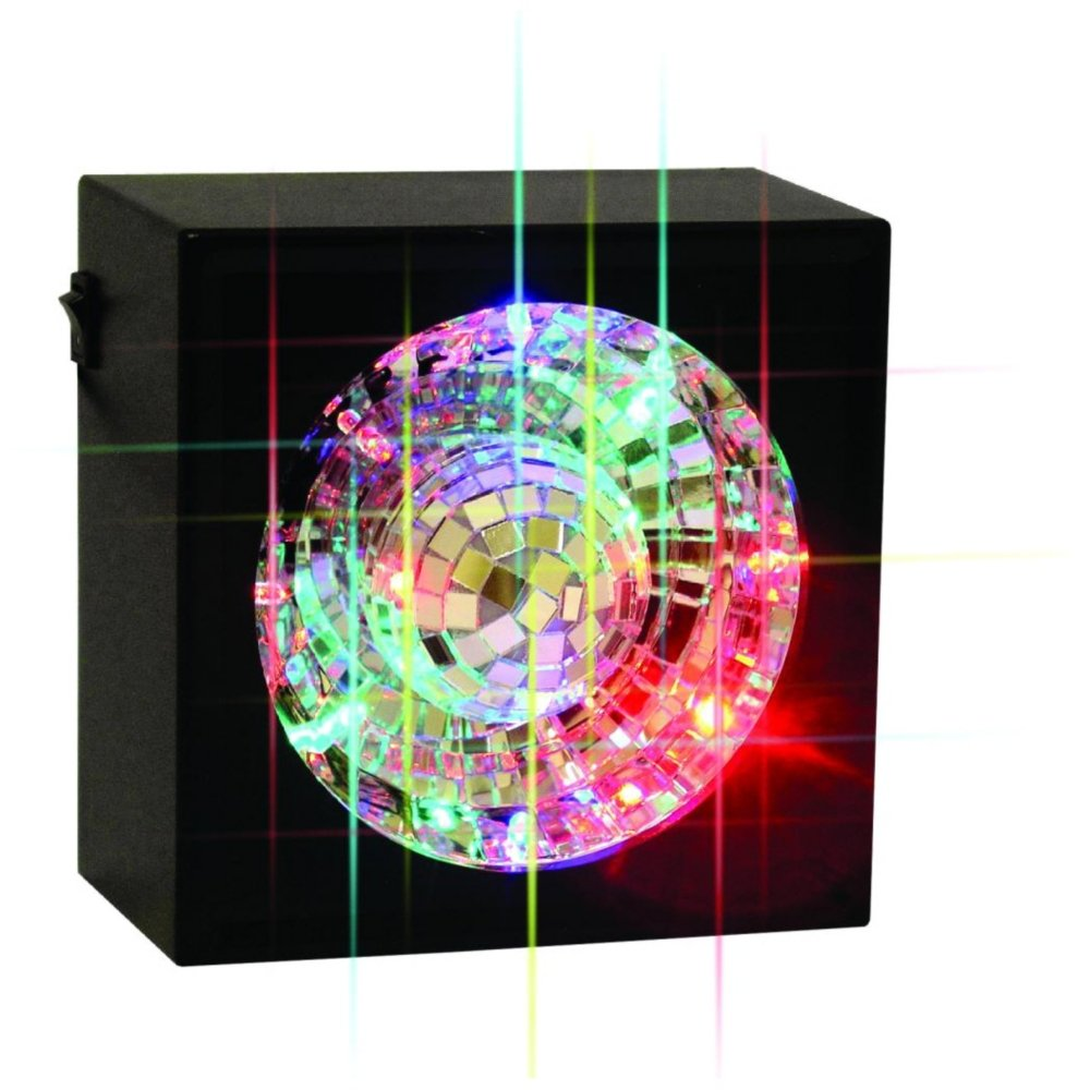 Creative Motion Square Rotating Mirror Ball Light with LED Creative Motion Industries Inc. 10848-0