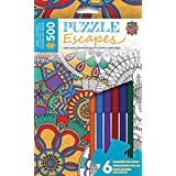 MasterPieces Puzzle Escapes Mandala Collage 500 Piece Coloring Jigsaw Puzzle by Hello Angel