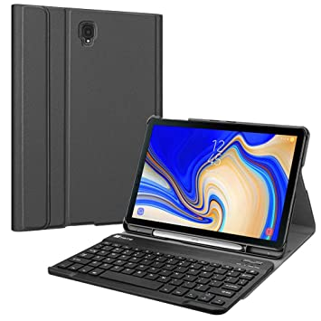 detailed pictures b85be d25b9 Fintie Keyboard Case for Samsung Galaxy Tab S4 10.5 2018 Model  SM-T830/T835/T837, Slim Lightweight Stand Cover with Detachable Wireless  Bluetooth ...