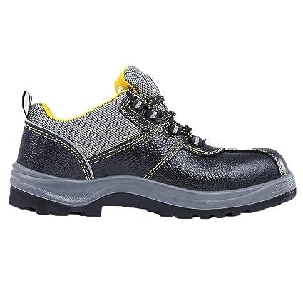 ZHRUI Zapatillas de Seguridad para Hombres con Calzado Antideslizante de Acero Compuesto Antideslizante para Calzado Deportivo