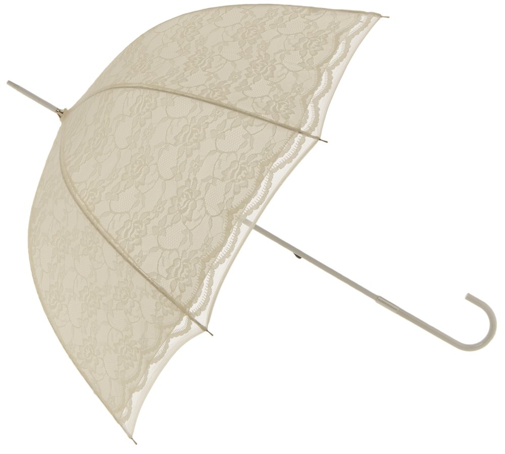 Got-You-Covered 38 Inch Lace Parasol Wedding Umbrella Ivory