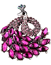 Christineen Peacock Stretch Bling Cocktail Fashion Ring Scarf Ring Buckle Clip Jewellery for Women