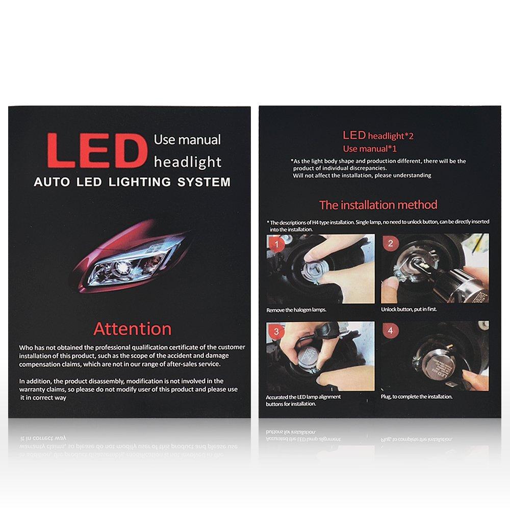 Auto Safety 2X H1 7600LM LED Faros Delanteros Bombillas Coche Lámpara luz 6000K - 2 años de garantía