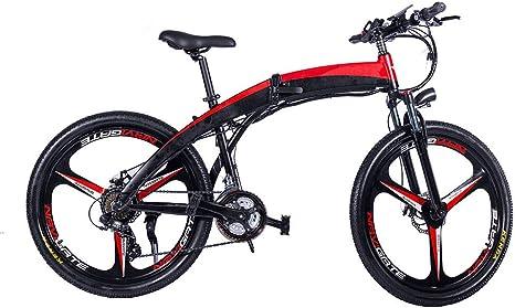 Chicstyleme Bicicletas Electricas Plegables Ligeras Bicicleta Eléctrica Ciudad/Montaña con Batería de Litio Desmontable Aleación de Aluminio, 250W de Alta Potencia, 26