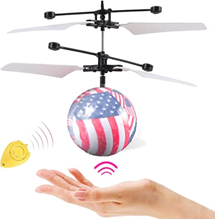 Toy for Kids Best Gift for Boys and Girls Flying Ball Toys Rechargeable Light Up Ball Drone Infrared Induction Helicopter with