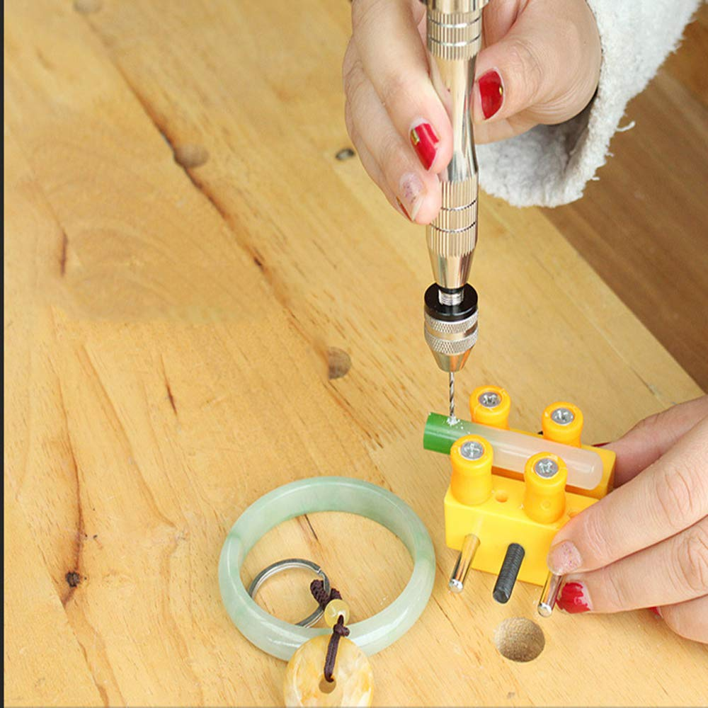 for Resin Plastic Wood Polymer Clay Fineder Pin Vise for Resin Casting Molds DIY Jewelry Keychain Pendant Making 0.8-3mm Precision Hand Drill Tool Sets with 10 PCS Twist Drill Bits