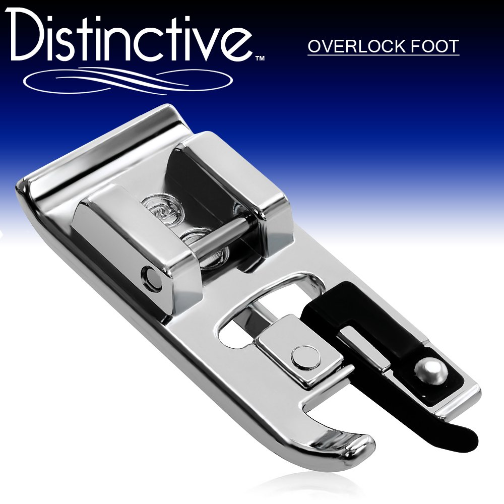 Distinctive Overlock Overcast Sewing Machine Presser Foot - Fits All Low Shank Snap-On Singer, Brother, Babylock, Euro-Pro, Janome, Kenmore, White, Juki, New Home, Simplicity, Elna and More! 4336999353