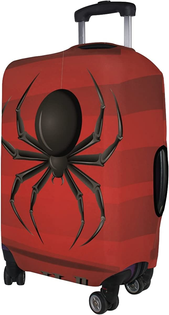 GIOVANIOR Happy Halloween Spider Luggage Cover Suitcase Protector Carry On Covers