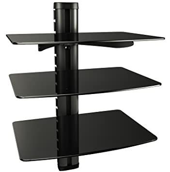 Hifi rack wand  RICOO Wand-Regal TV Board Hifi Rack Glasregal: Amazon.de: Elektronik