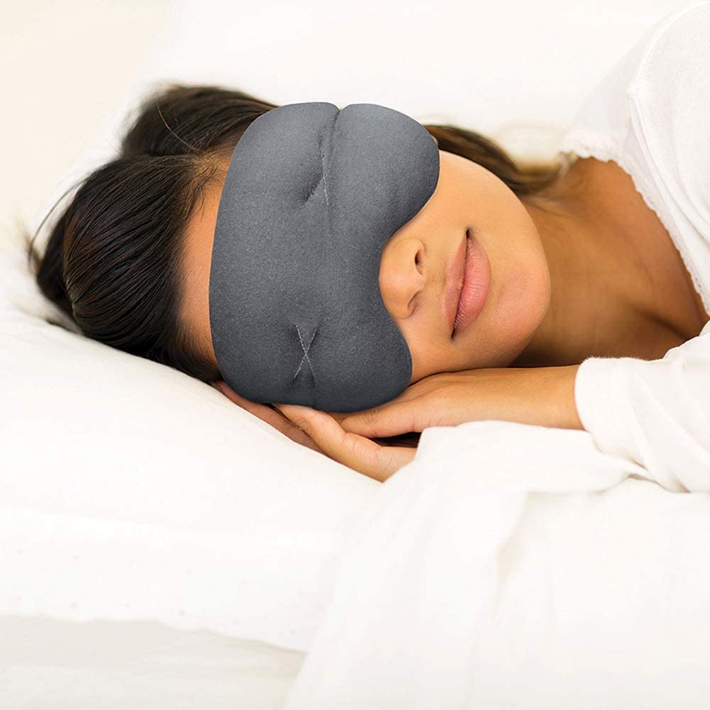 IMAK Compression Pain Relief Mask and Eye Pillow, Cold Therapy Headache, Migraine, Sinus Pain, Patented, Universal Size: Health & Personal Care