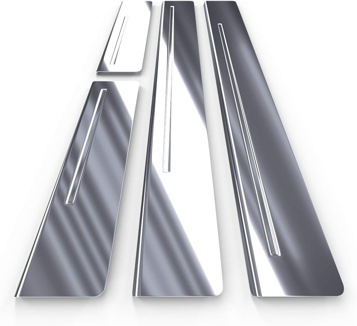 silber 4-teilig Glanz Auto Einstiegsleisten Set Edelstahl 5902538677370