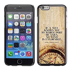 Plastic Shell Protective Case Cover || Apple iPhone 6 Plus 5.5 || Smart Deep Compass Quote @XPTECH