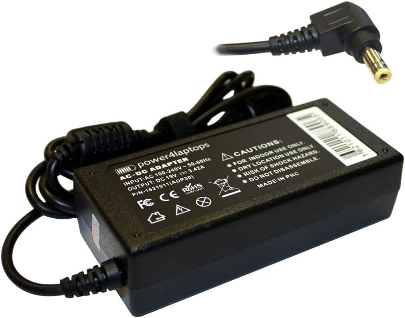Power4Laptops AC Adapter Laptop Charger for Toshiba Satellite C655D-S5091, Toshiba Satellite C655D-S5200, Toshiba Satellite C655D-S5202, Toshiba Satellite C655D-S5209, Toshiba Satellite C655D-S5210