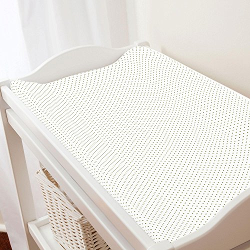 Sage Pin Dot - Carousel Designs Sage Pin Dot Changing Pad Cover - Organic 100% Cotton Change Pad Cover - Made in the USA