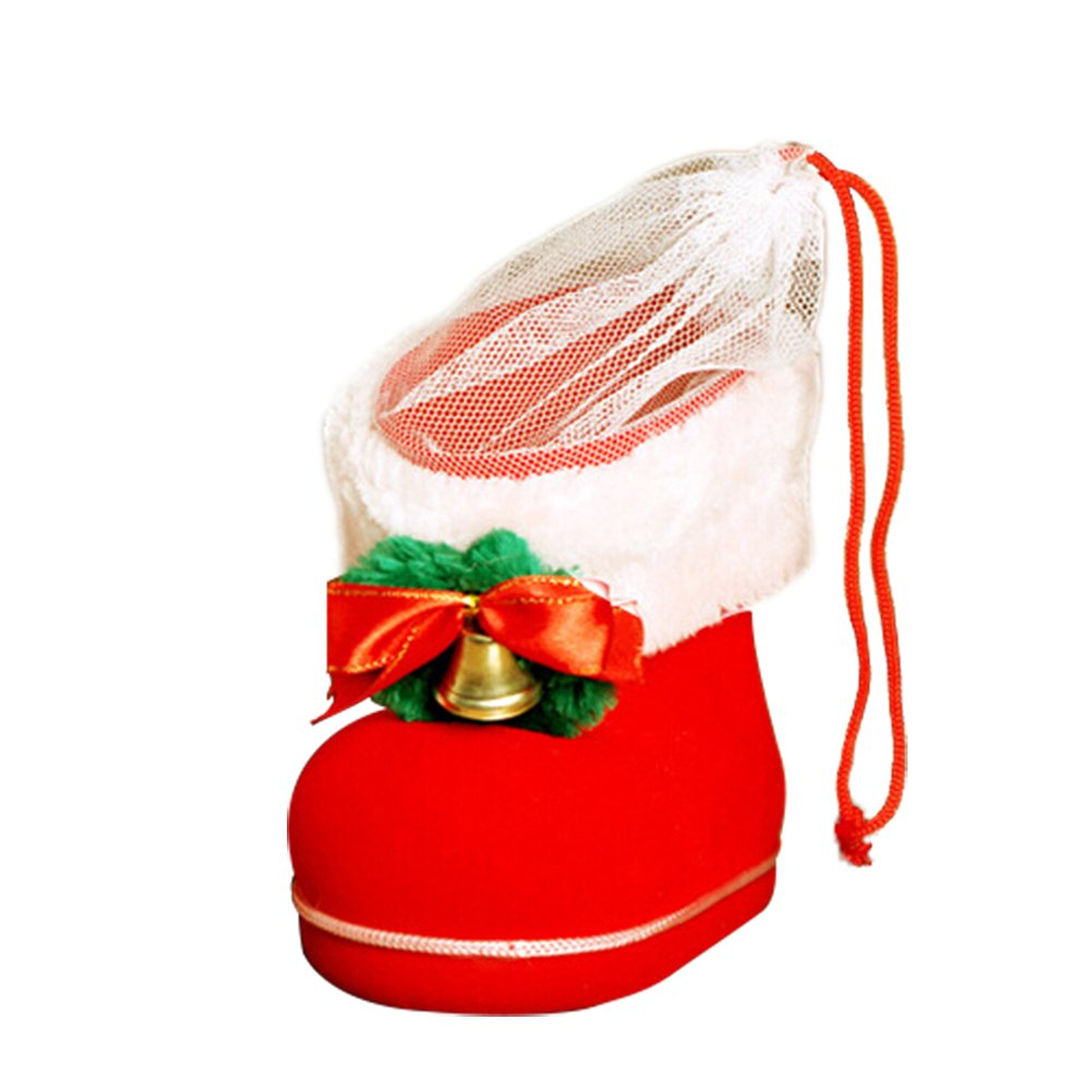 Topdo 3 Sizes Christmas Candy Packing Boot Shoes Christmas Eve Box Xmas Party Bags Gift Party Favor Goody Bags-Large Size