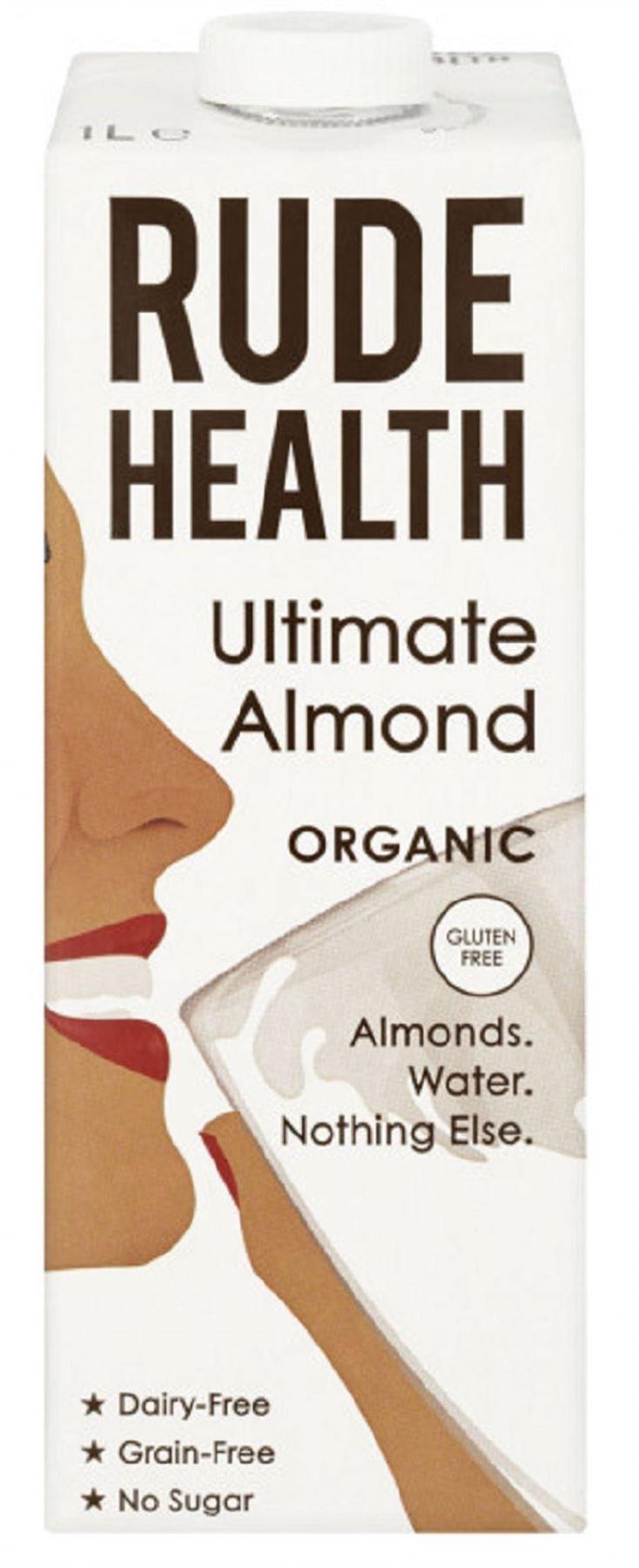 Rude Health Organic Almond Milk 1ltr