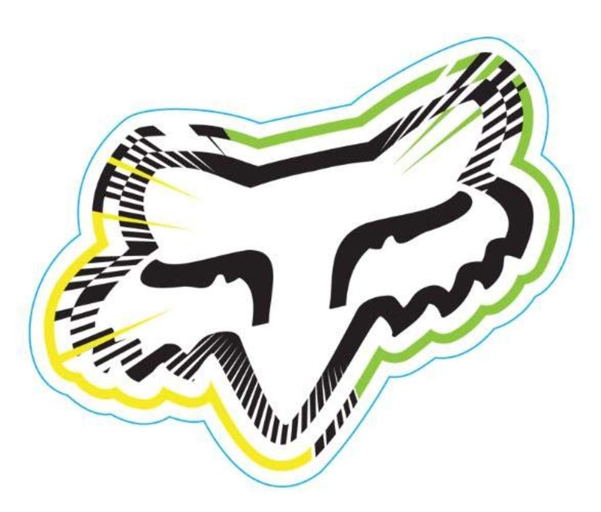 Green One Size Fox Sticker Fox Racing Spiked