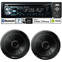 Pioneer DEH-X4800BT CD Receiver w/ TS-165P 6.5 2-Way Speakers Package and a FREE SOTS Air Freshener