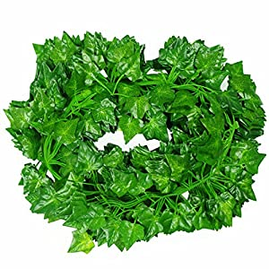LeeQueen Artificial Greenery Ivy Vines Leaves Fake Plants Garland Hanging for Wedding Party Home Kitchen Garden Wall Decoration (12 pcs 84 Feet) 8