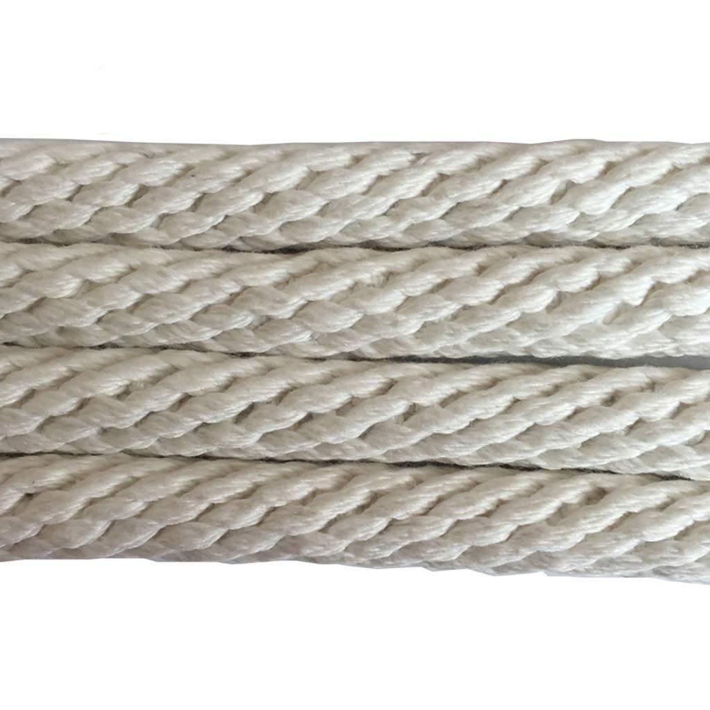 クライミングロープ 直径20mmの綿と麻のマルチサイズのオプションの屋外用救助ロープ (色 : 20MM-20m)  20MM-20m B07Q24Q49B