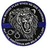 Blue Line Law Proverbs 28:1 The Wicked Flee...Biker Patch 3 inch IVANP4824
