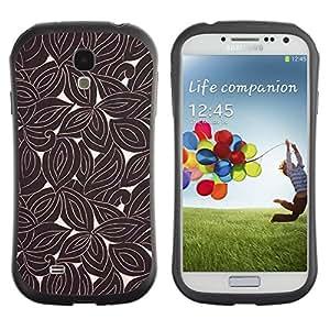"""Hypernova Slim Fit Dual Barniz Protector Caso Case Funda Para SAMSUNG Galaxy S4 IV / i9500 / i9515 / i9505G / SGH-i337 [Retro del papel pintado de Brown""""]"""