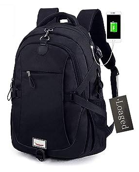 Antirrobo Mochila para portátil, loaged negocio bolsas con puerto de carga USB resistente al agua