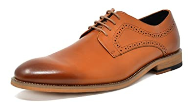 a2b5bea1d0898 Bruno Marc Men's Waltz-2 Brown Oxford Classic Formal Lace up Dress Shoes  Size 6.5