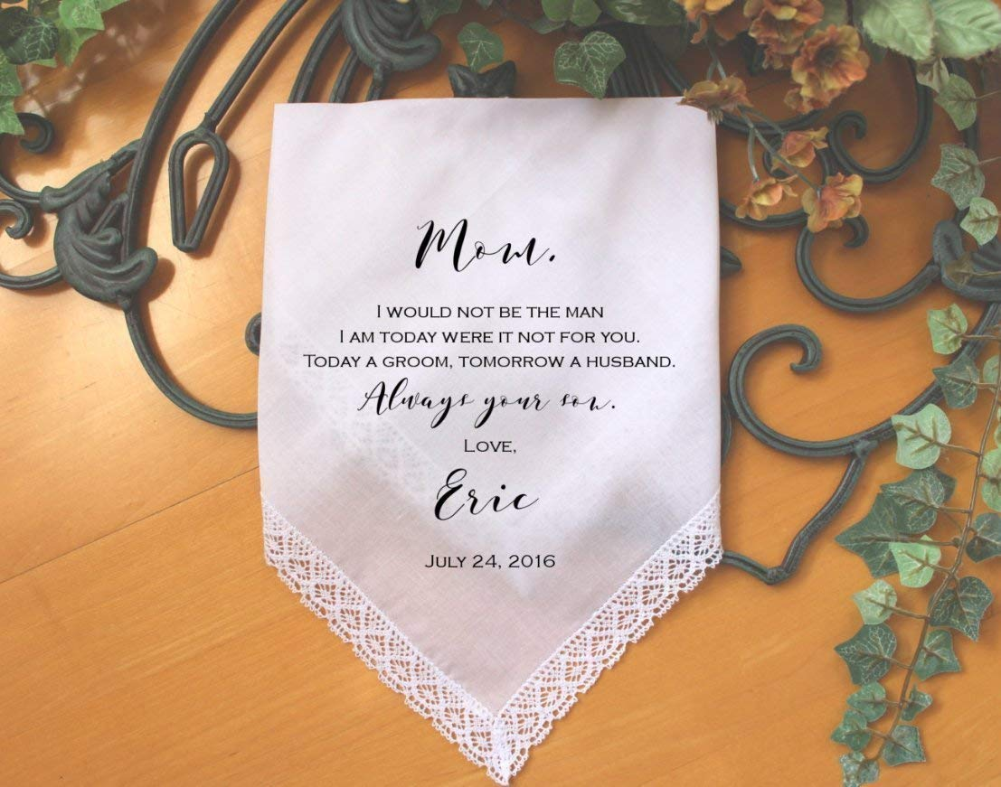 Mother of the Groom handkerchief, custom PRINTED wedding Handkerchief, Mother of the Groom Gift from Groom,Personalized-LS6FPadCop by Snugahug[7]