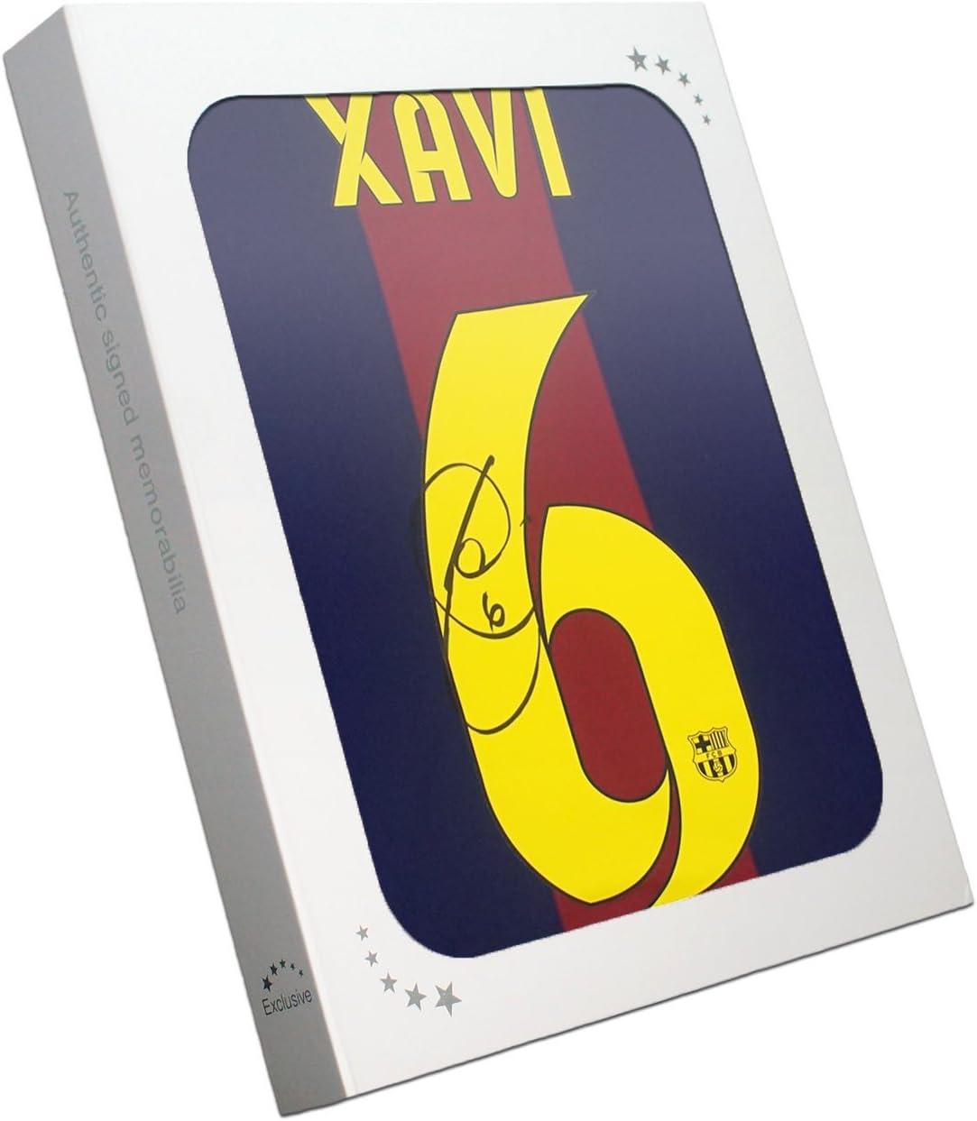 Xavi Hernández Firmado 2014-15 camiseta de fútbol de Barcelona En la caja de regalo: Amazon.es: Deportes y aire libre