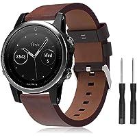 TOPsic riem Fenix 6S, 20mm band lederen armband gemakkelijk fit horloge riem voor Fenix 5S Plus/Fenix 5S/Fenix 6S/Fenix 6S Pro/Fenix 6S Sapphire