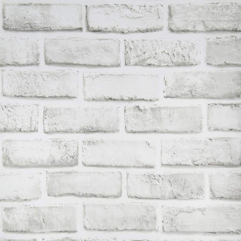 White Brick Wallpaper 17 71 118 Grey Removable Contact Paper Self Adhesive Vinyl Film Easy To Apply Peel And Stick Gray Faux Brick Backsplash Wall Paper Waterproof For Background Decorative Walls