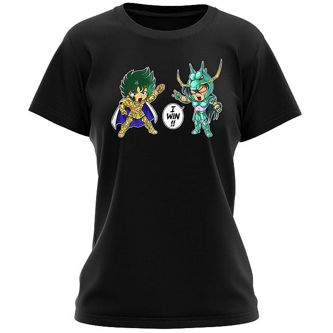 3eb28a131 Camisetas Manga - Parodia de Shiryū de Dragón y Shura de Capricornio de  Saint Seiya