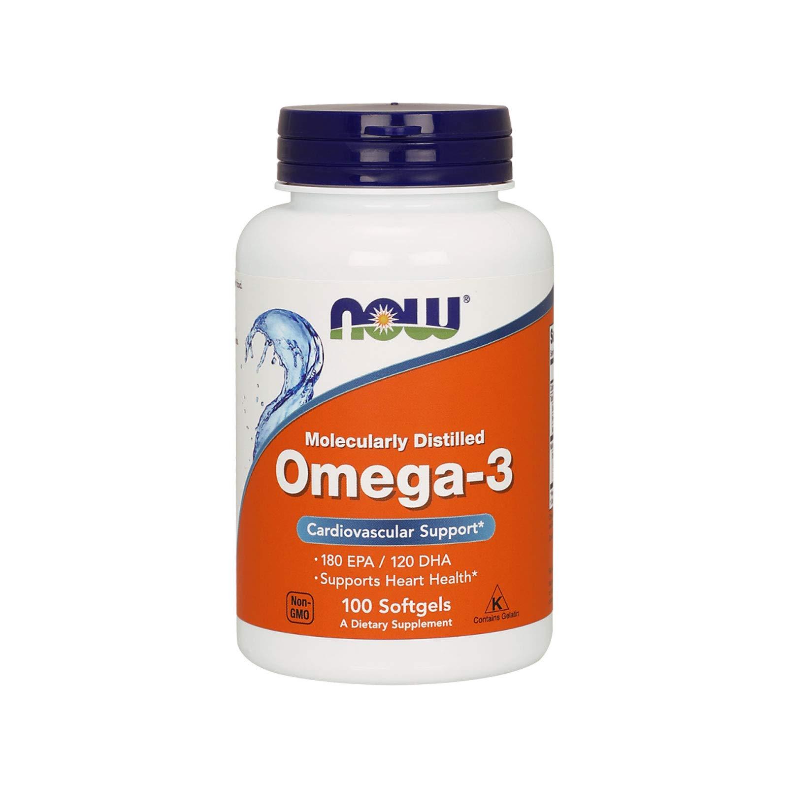 Now Foods Omega 3, 100 softgel product image