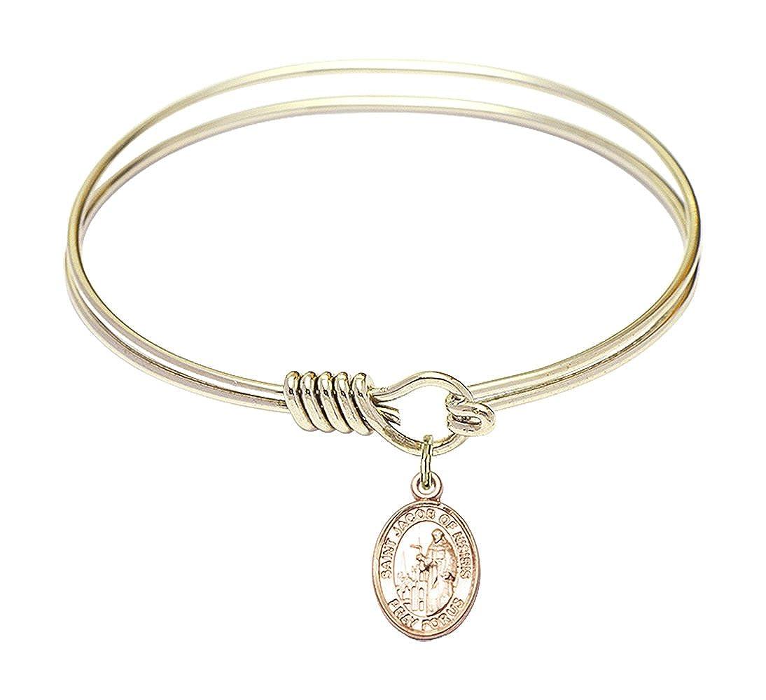 Jacob of Nisibis in Gold-Filled Bonyak Jewelry Round Eye Hook Bangle Bracelet w//St