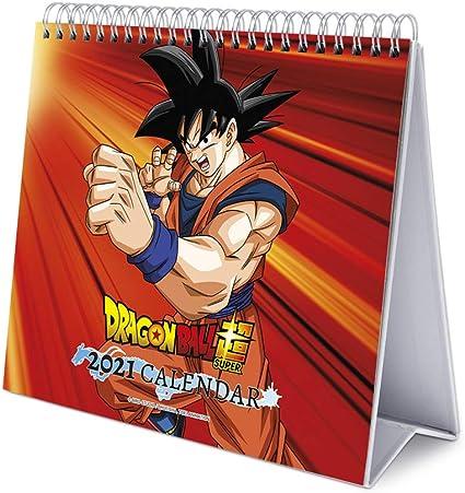 Erik® Calendrier Mensuel 2021 Dragon Ball Super   Calendrier de