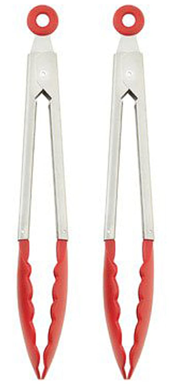 Metal Tong W/ Nylon Head 10.5 Long - Locking Tongs (2 Pair) Pick: Green, Blue, Orange, or Purple (Red) Good Old Values G25554F