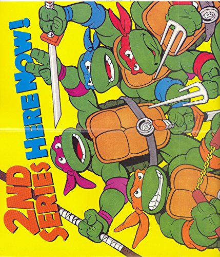 - TEENAGE MUTANT NINJA TURTLES TMNT CARTOON 2ND SERIES HERE NOW 1990 TOPPS BOX POSTER